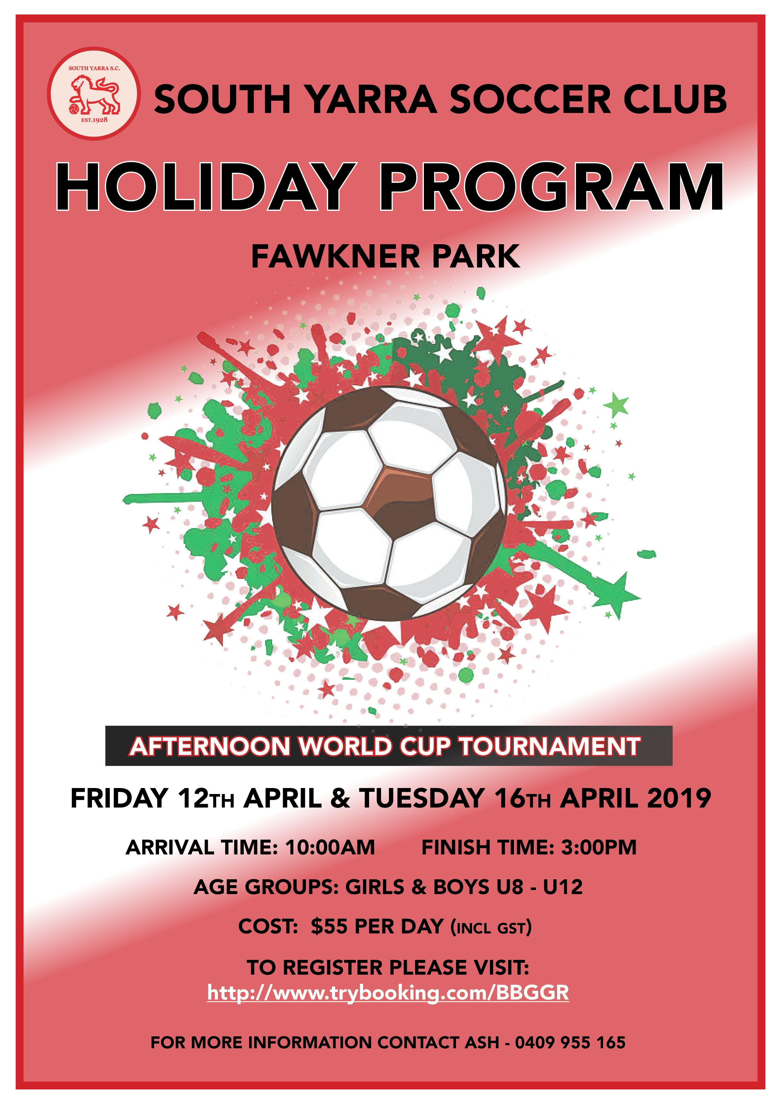 Holiday Program – April 2019!