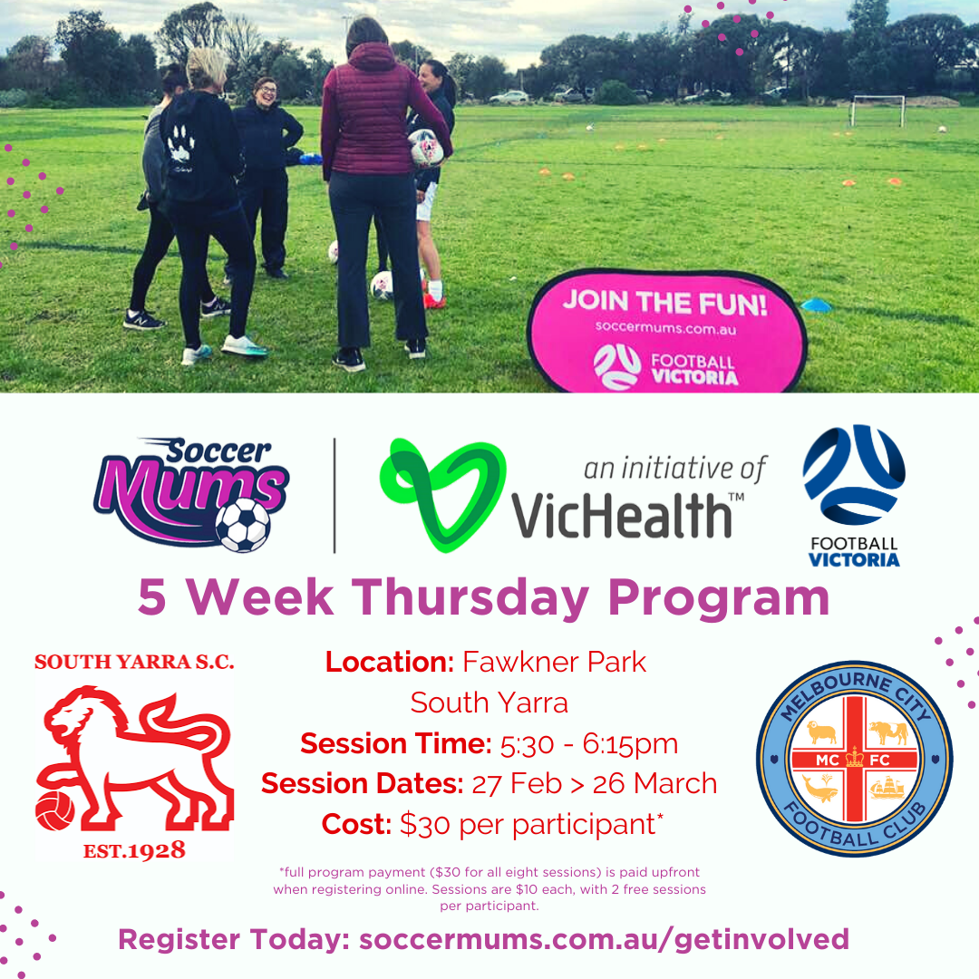 Soccer Mum's is back at the Yarra in 2020!!!